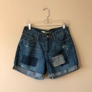 Old Navy patchwork boyfriend jean shorts